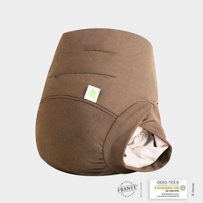 couche lavable b b taupe brevet e anti fuite. Black Bedroom Furniture Sets. Home Design Ideas