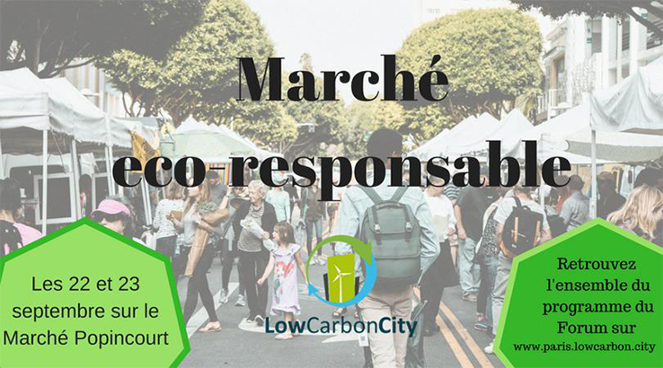 Shoppez responsable à l'éco-marché parisien Low Carbon City